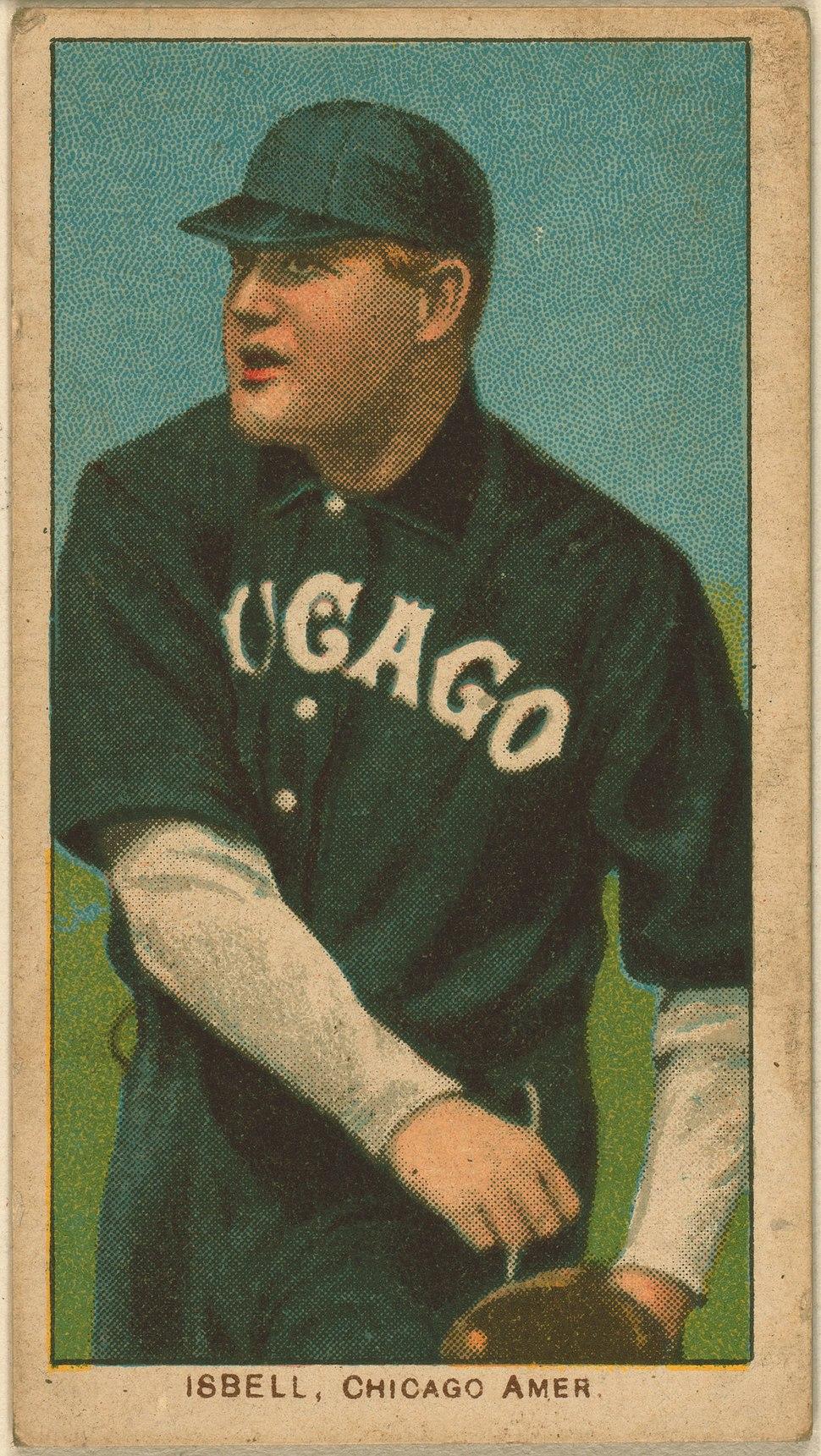 Frank Isbell baseball card