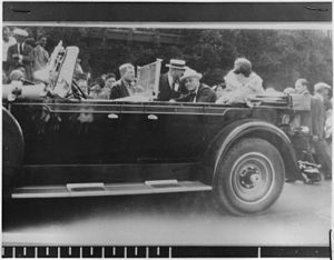 Bear Mountain (Hudson Highlands) - Franklin D. Roosevelt in Bear Mountain, 1929