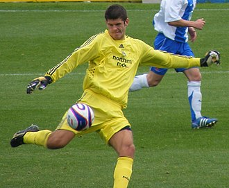 Fraser Forster - Forster playing for Newcastle United in 2008