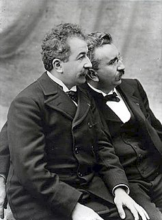 Auguste and Louis Lumière French filmmakers