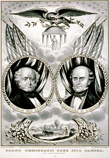 anti-slavery but non-abolitionist political party in the United States, precursor to the Republican party