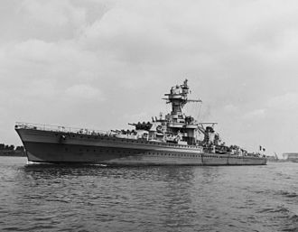 Free French Naval Forces - Free French light cruiser Montcalm photographed in 1943