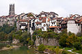 Fribourg with saint nicholas cathedral belltower.jpg