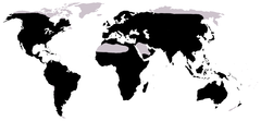 Distribution of frogs (in black)