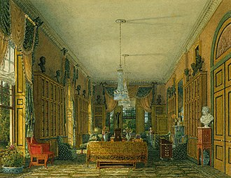 Frogmore House - Image: Frogmore House, Queen's Library, by Charles Wild, 1817 royal coll 922120 257041 ORI 0 0