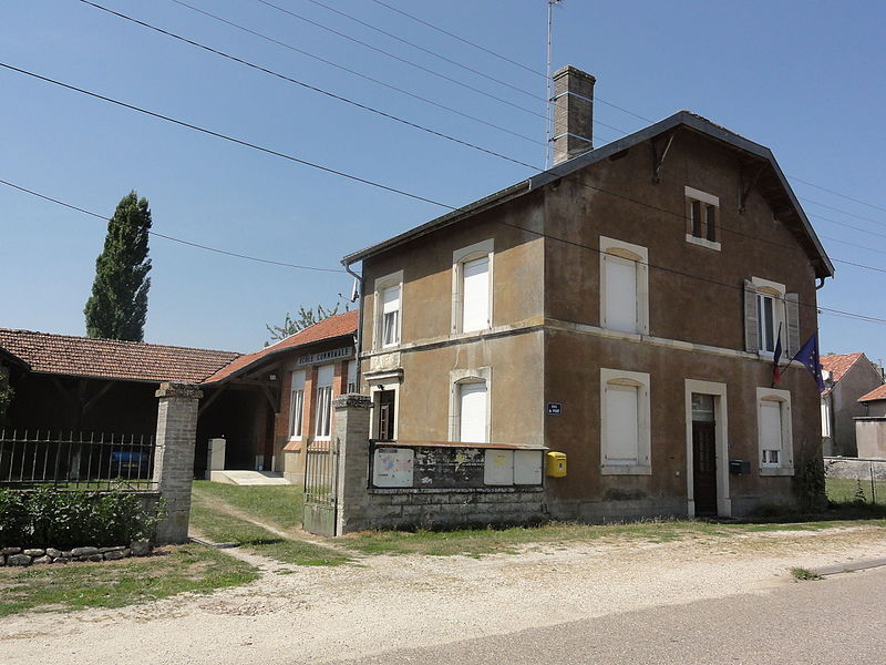 Fromezey (Meuse) mairie-école