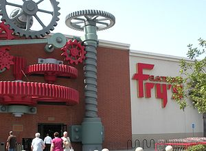 Fry's Electronics - Industrial revolution themed store in the City of Industry, California.