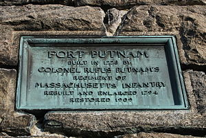 Fort Putnam - Image: Ft. Putnam, West Point, NY info plate 1