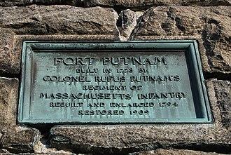 Fort Putnam - Historical Marker