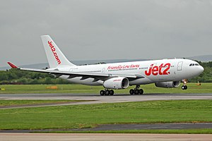 Jet2.com - Jet2.com often lease aircraft for the summer traffic. In 2017 they leased an A330-200 from AirTanker