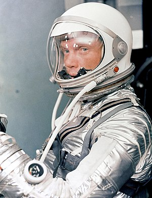 Project Mercury - John Glenn wearing his Mercury space suit