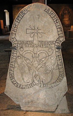 "Founding of Moldavia - The 11th-century runestone G134 referring to ""Blakumen"" whom many historians identified as Vlachs (Sjonhem cemetery, Gotland, Sweden)"