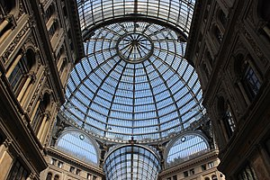 History of modern period domes - The Galleria Umberto I in Italy.