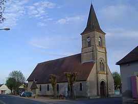 The church in Gannay-sur-Loire