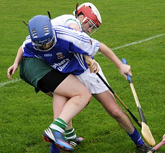 Sport in Ireland - Garda vs. Defence Forces camogie match in 2012.