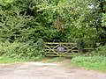 Gate into private woodland - geograph.org.uk - 568784.jpg