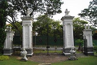Bidadari Garden - Image: Gate of the former Bidadari Cemetery, Bidadari Garden, Singapore 20121008 04