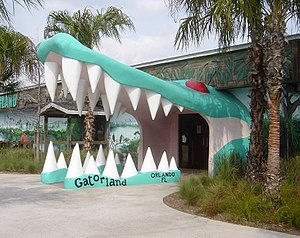 Gatorland - Entrance in February 2006, prior to the fire