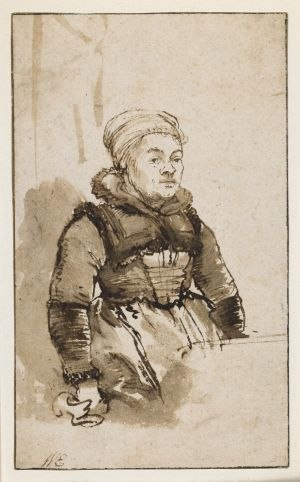 Geertje Dircx -  This drawing by Rembrandt is believed to depict Geertje Dircx.