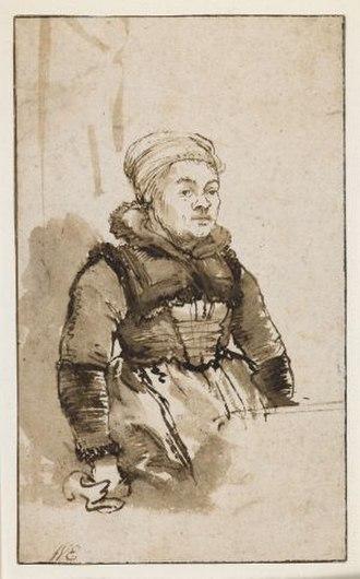 Geertje Dircx - This drawing by Rembrandt is believed to depict Geertje Dircx.