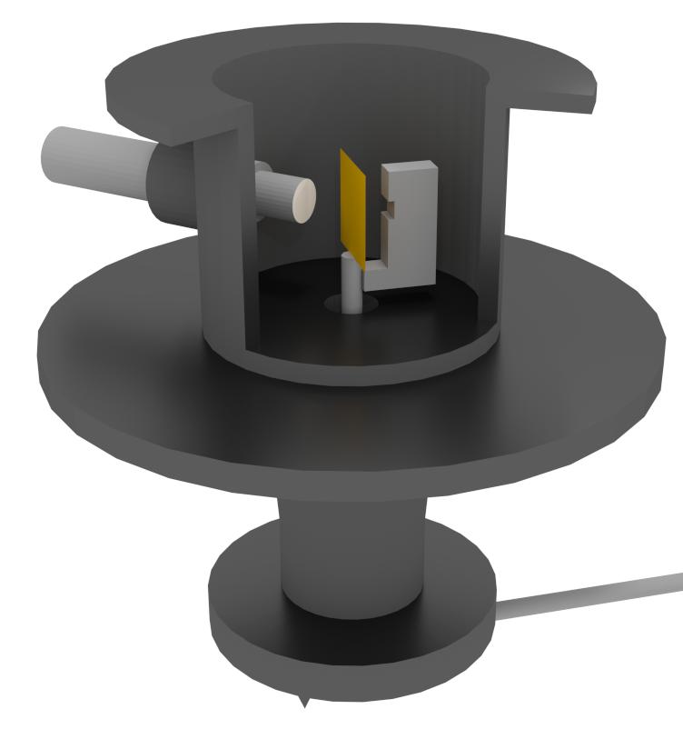Geiger-Marsden apparatus CGI mock-up