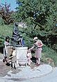 Gellérthegy, játszótér, Hamupipőke kútszobor (Kallós Ede, 1931.). Fortepan 75501.jpg