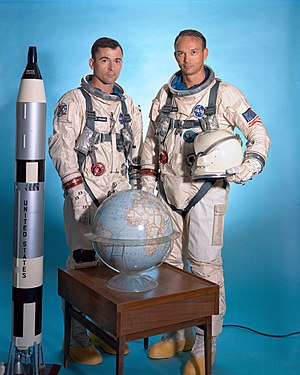Michael Collins (astronaut) - Collins with John Young