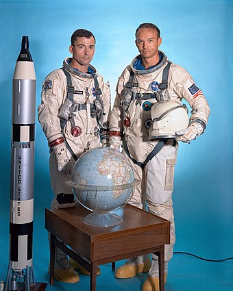 Collins with John Young - Michael Collins (astronaut)