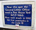General Letter Office plaque London 1661.jpg