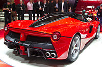 Geneva MotorShow 2013 - Ferrari LaFerrari rear left view.jpg