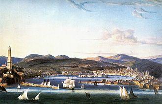 Ambroise Louis Garneray - Garneray:  View of Genoa  (ca 1810)