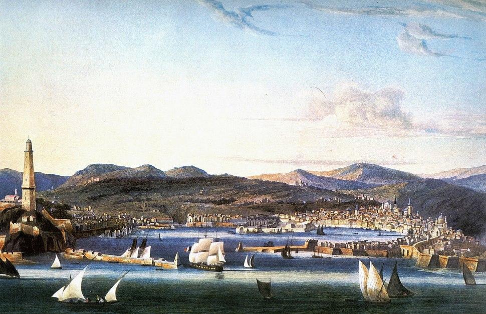 Genova-1810ca-acquatinta-Garneray