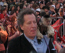 Geoffrey Rush a l'estrena de Pirates of the Caribbean: At World's End (2007)