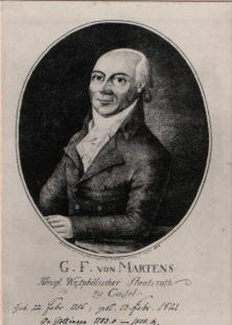 Georg Friedrich von Martens - Georg Friedrich von Martens.