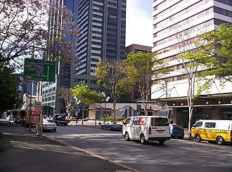 State Law Building - Image: George Street Brisbane from Law Courts Complex