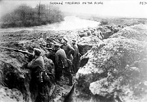 Aisne (river) - German trenches along the Aisne during World War I