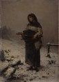 Gerolamo Induno – Mendicante sotto la neve.tiff