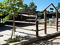 Ghi, pettingzoo (sheep compound, now with pony sign).jpg