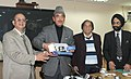 Ghulam Nabi Azad launching the Thalassaemia Diagnostic Kit, in New Delhi. The Minister of State for Health & Family Welfare, Shri A.H. Khan Choudhury and the DG, ICMR and Secretary, Department of Health Research.jpg