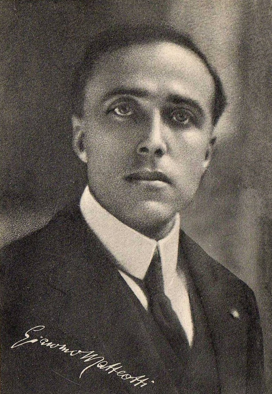 Socialist leader Giacomo Matteotti headshot in suit and tie