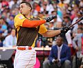 Giancarlo Stanton competes in semis of '16 T-Mobile -HRDerby. (28468372762).jpg
