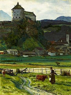 Kufstein Fortress - Kufstein Castle in 1889 by Aleksander Gierymski, National Museum in Warsaw