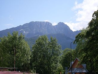 Geography of Poland - Giewont in the Tatra Mountains; the mountainous south is a popular destination for hikers