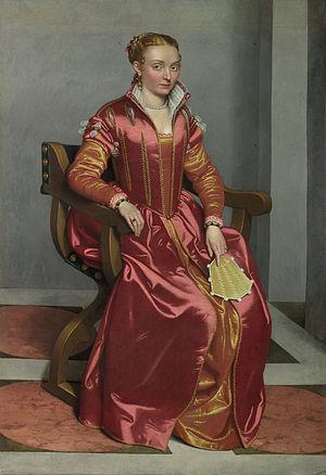 Giovanni Battista Moroni - Giovanni Battista Moroni - Portrait of a Lady, perhaps Contessa Lucia Albani Avogadro ('La Dama in Rosso')