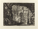 Giovanni Battista Piranesi - Le Carceri d'Invenzione - Second Edition - 1761 - 16 - The Pier with Chains.jpg