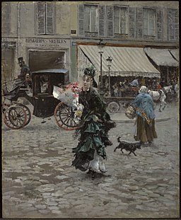 Giovanni Boldini Crossing the Street