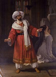 Giovanni David als Agobar in Pacinis Gl' Arabi nelle Gallie, 1830. Porträt von Francesco Hayez, Accademia di Belle Arti di Brera (Quelle: Wikimedia)