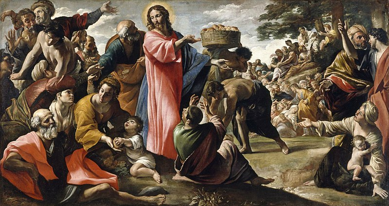 File:Giovanni Lanfranco - Miracle of the Bread and Fish - WGA12454.jpg
