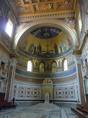 English: Basilica of St. John Lateran - apse I...