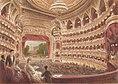 Innenansicht der Wiener Hofoper, Farblithographie von Johann Varrone, ca. 1890